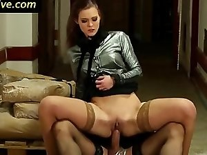 Slut licked and fucked by sissy