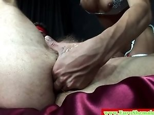 European tranny fucking his tight ass