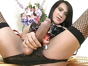 Big cock tranny in latex